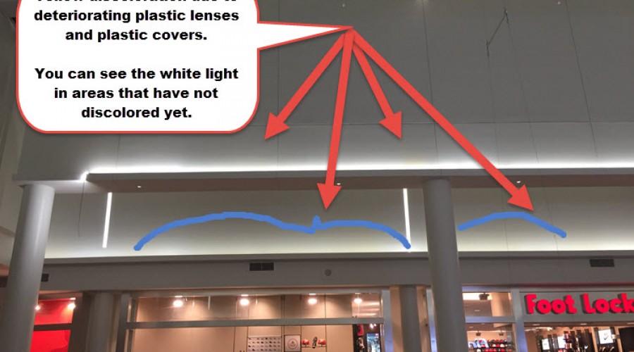 LED Light Discoloration