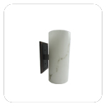 SunStar50-White and Brown LED Wall Sconce
