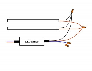 LPF driver wired to fixture
