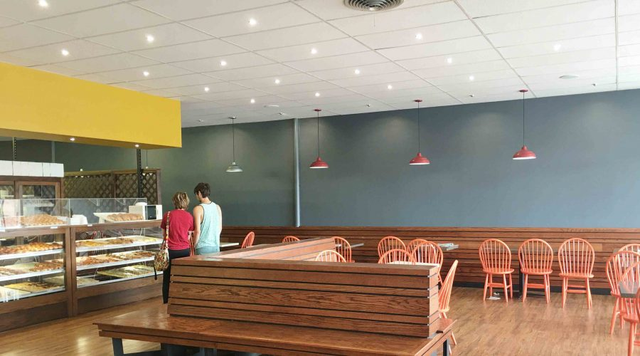 New Lighting at Munchers Bakery in Lawrence